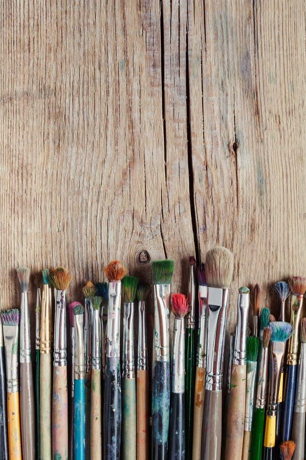 Paint Brush Table Mess