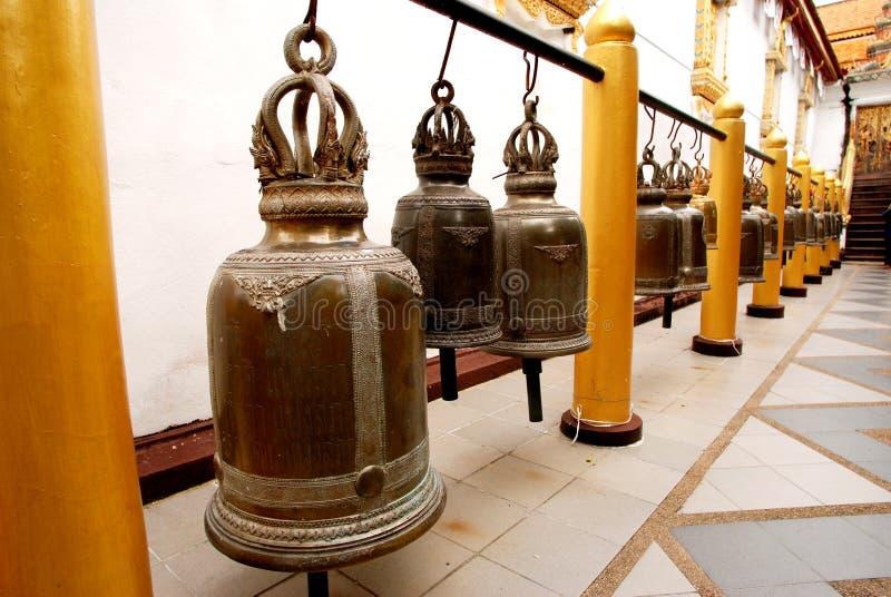 Row of Bells stock image