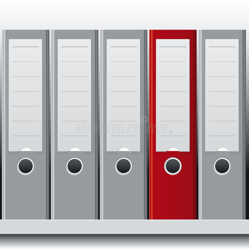 Row of binders. Detailled illustration showing a row of binders royalty free illustration