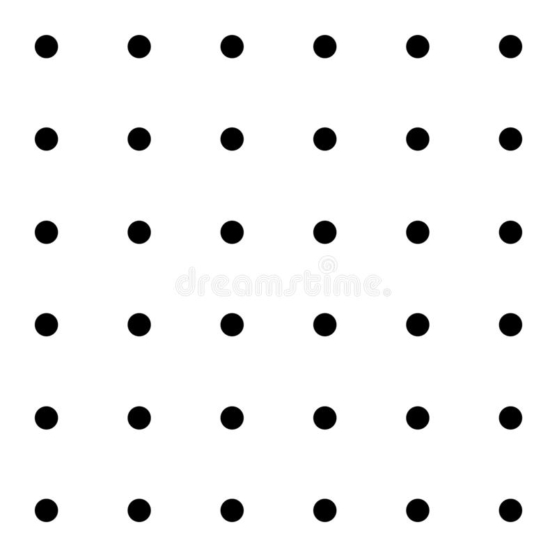 Row black circle seamless pattern. Circle and white background. Page markup dots. Vector illustration royalty free illustration