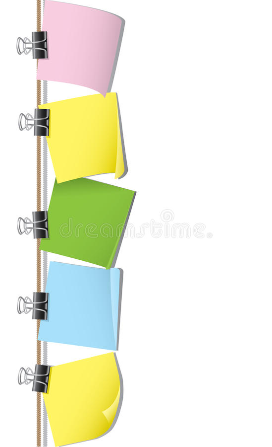 Download Row Of Blank Note Paper Stock Images - Image: 13243834