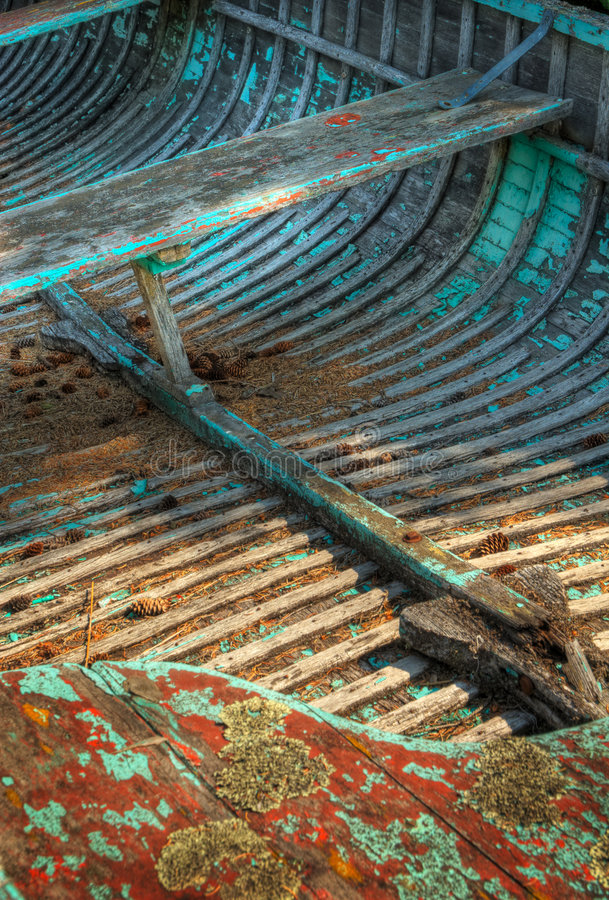 Download Row Boat Interior stock photo. Image of boat, lichen, barnacles - 6977216