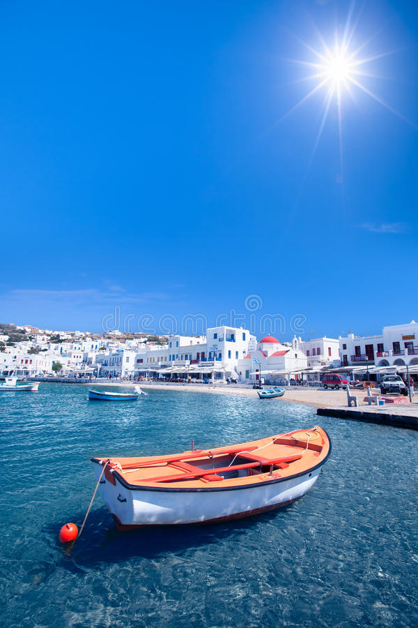 Download Row Boat stock image. Image of mykonos, beauty, travel - 30460739