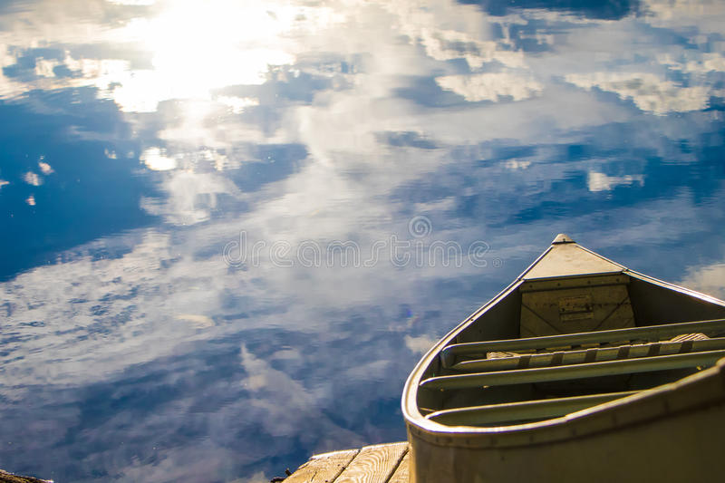 Row boat on sky stock images