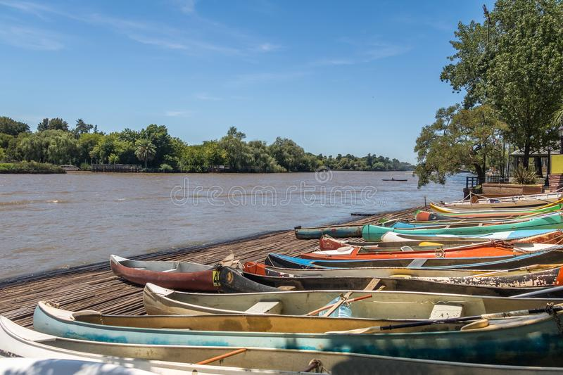 Row Boats at Tigre Delta - Tigre, Buenos Aires Province, Argentina. Row Boats at Tigre Delta in Tigre, Buenos Aires Province, Argentina royalty free stock photo