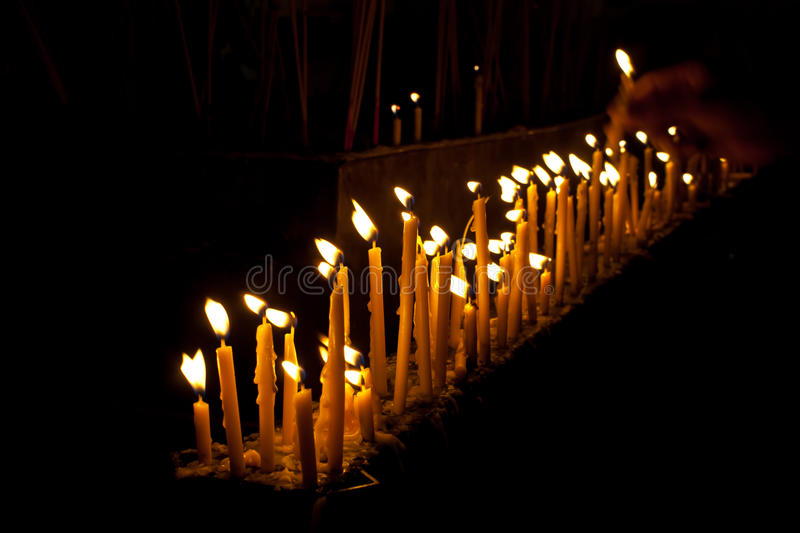 Row Of Candle Royalty Free Stock Photography