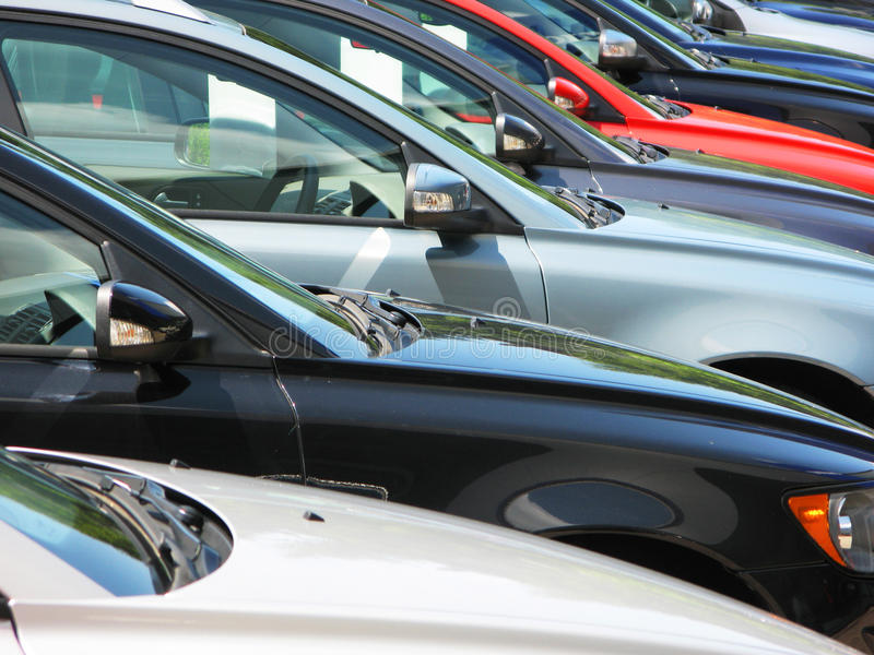 Download Row of cars stock image. Image of brand, dealership, drive - 14793227
