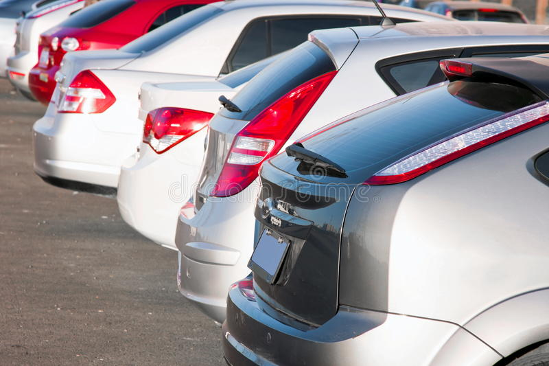 Download Row of cars stock photo. Image of closeup, color, exterior - 19191712