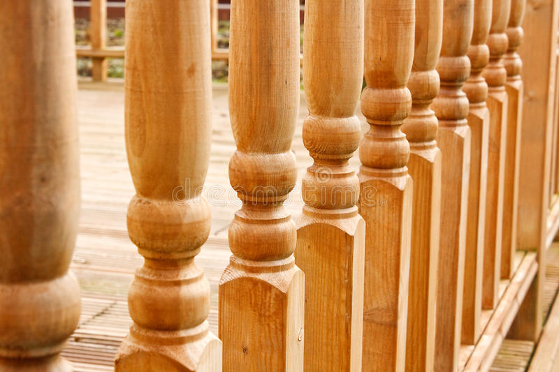 Row of carved Balustrades royalty free stock photos