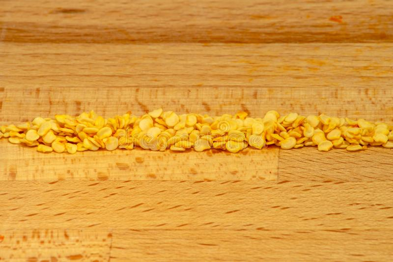 Row of rawit chili seeds stock photography