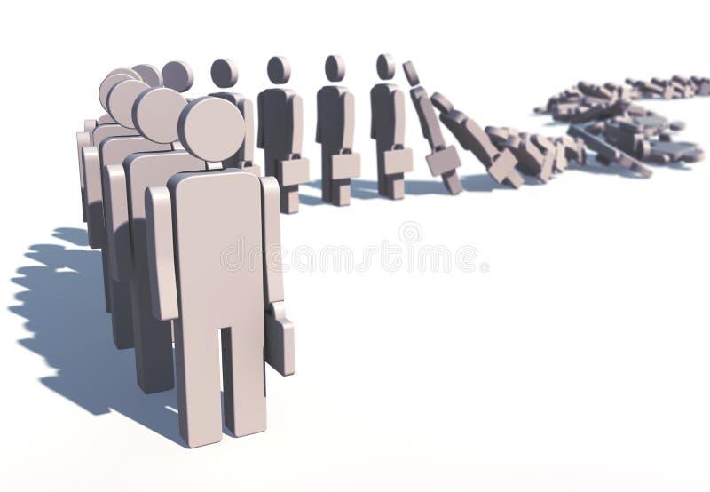 Row collapsing vector illustration