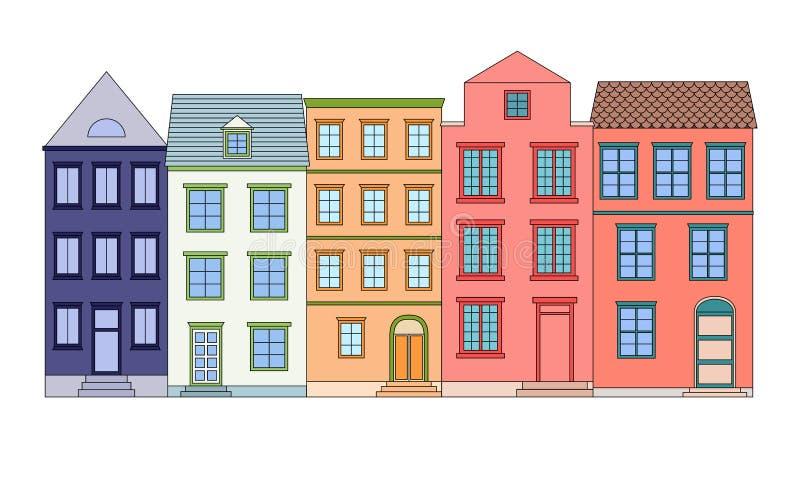 Phenomenal Row Houses Street Line Drawing Stock Illustrations 79 Row Download Free Architecture Designs Scobabritishbridgeorg