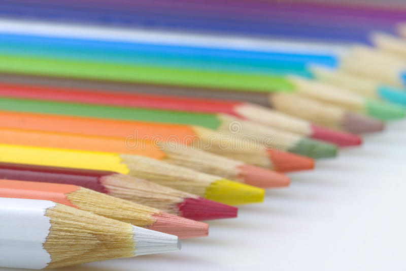Download Row of Colored Pencils stock image. Image of education - 26721309