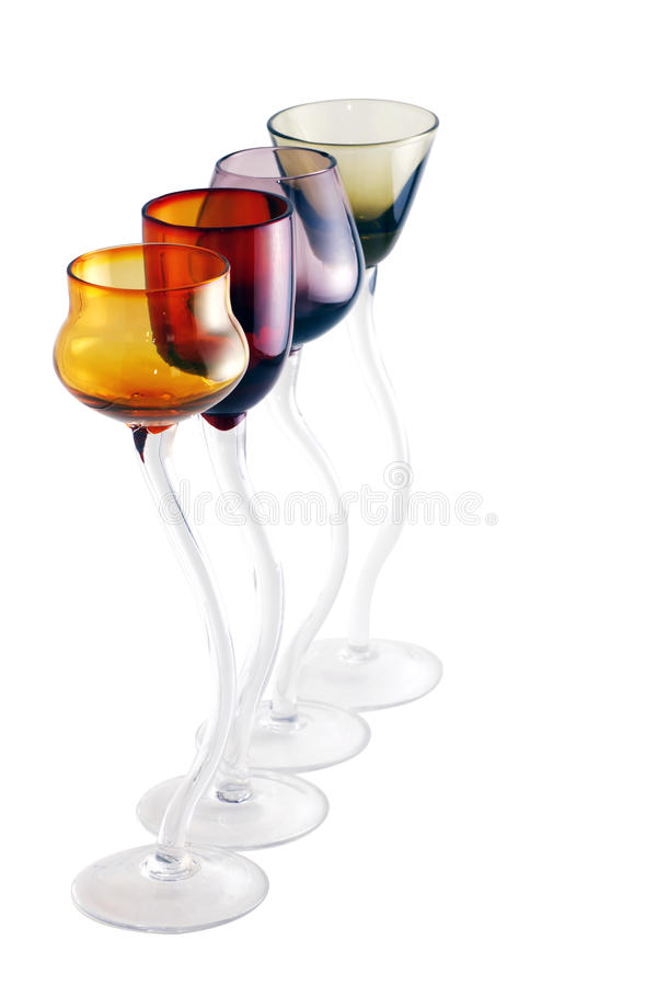 Download Row Of Colorful Shot Glasses Stock Image - Image of presentation, isolated: 18844675