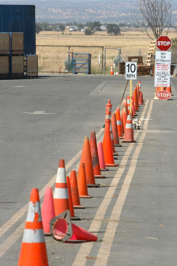 Download Row of Cones stock image. Image of cars, orange, plant - 4086111