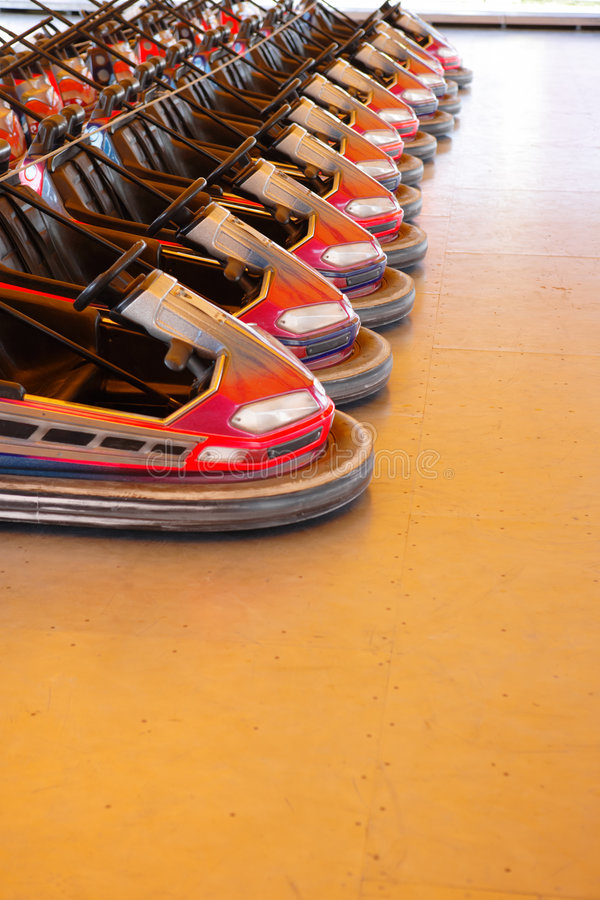 Download Row of dodgems stock photo. Image of pursuit, relaxation - 3969948