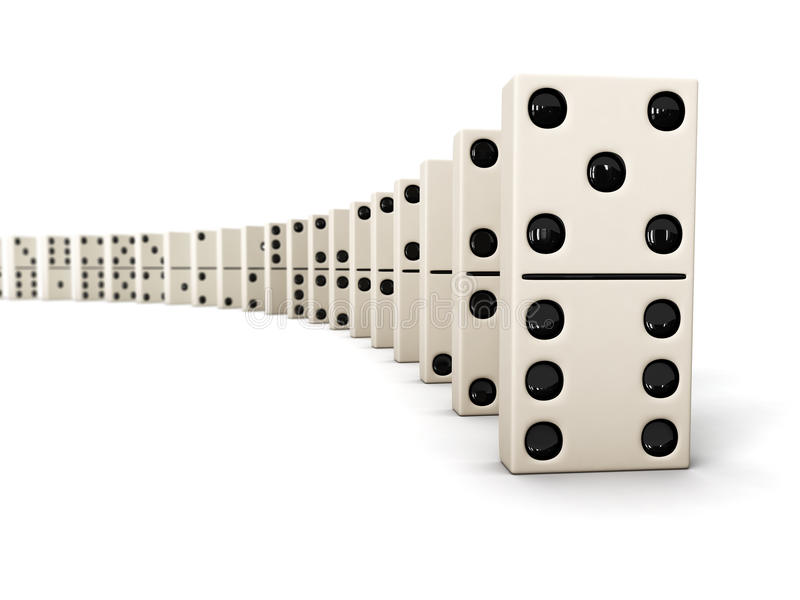 Row of dominoes royalty free stock photography