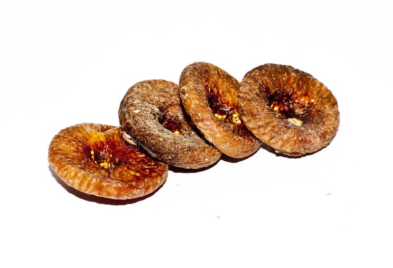 A row of dried figs stock photos