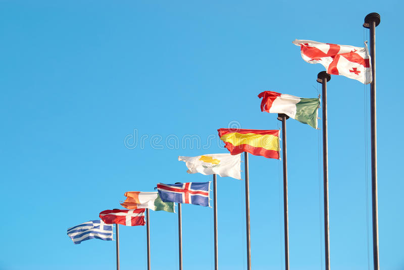 Download European flags stock photo. Image of community, norway - 29929114