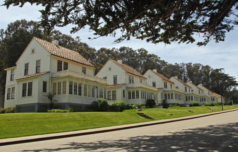 Luxury Californian houses royalty free stock photography