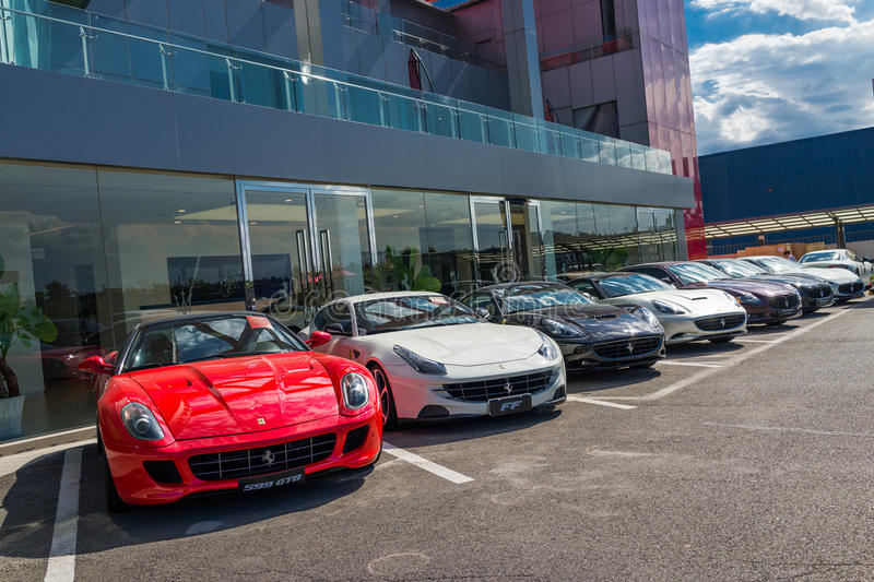 Download Row Of Ferrari Cars Editorial Stock Photo. Image Of Coupe    42446388