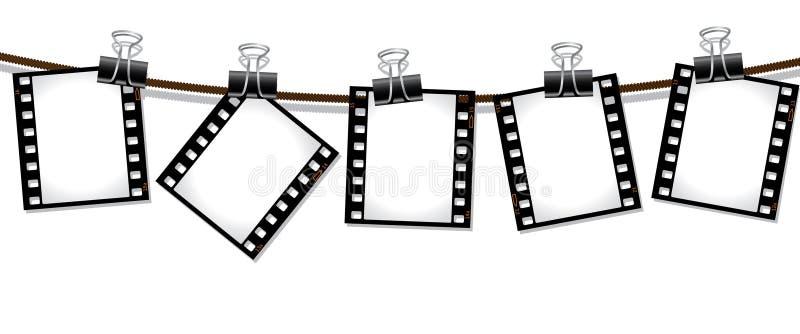 Row of film negatives royalty free illustration