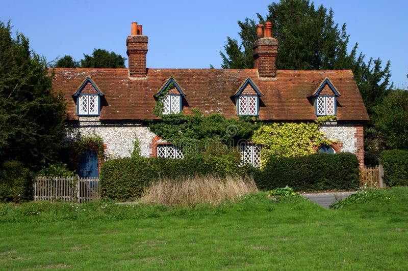 Row of flint cottages