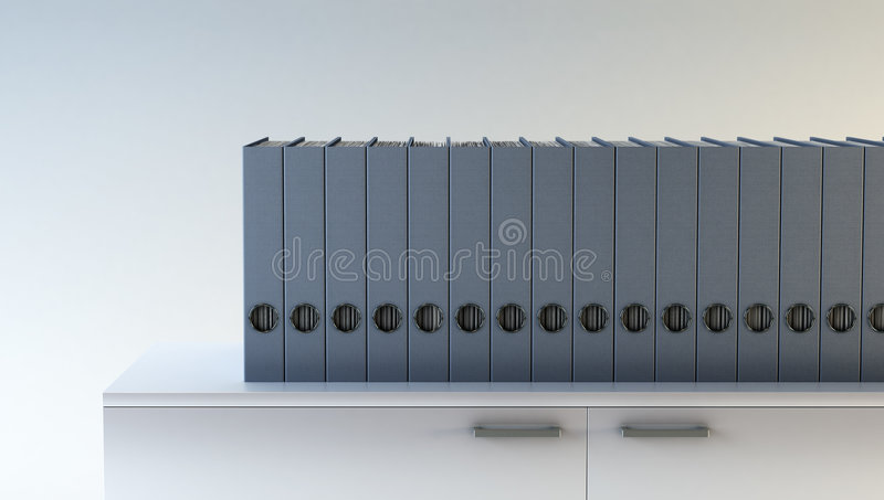 Row of folders vector illustration