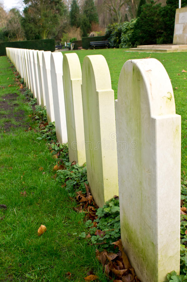Row of graves royalty free stock photos