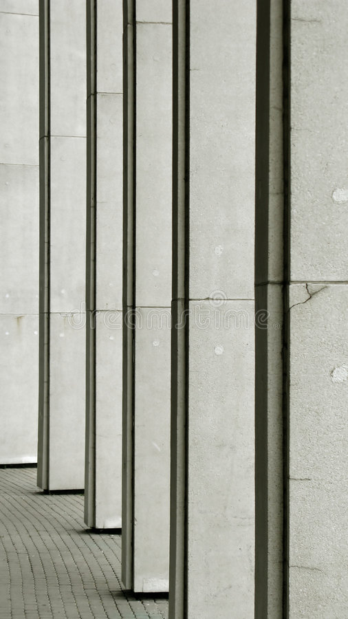 Row of gray columns royalty free stock photography