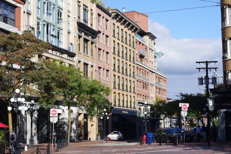 Row of heritage building stock photo