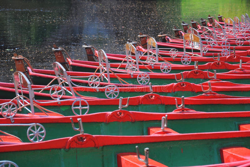 Download Row of hire boats on river stock image. Image of england - 25144879