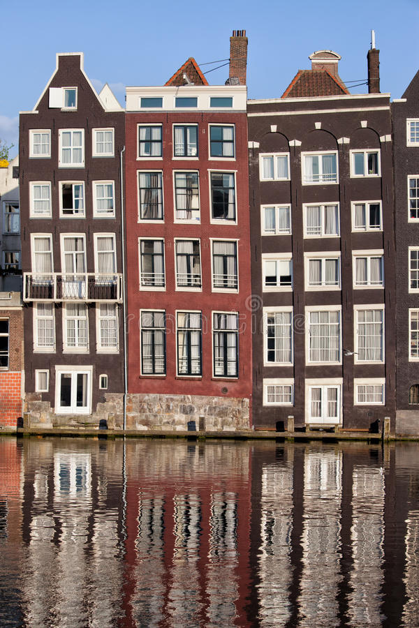 Download Row Houses In Amsterdam Stock Photo. Image Of Historic   33313924