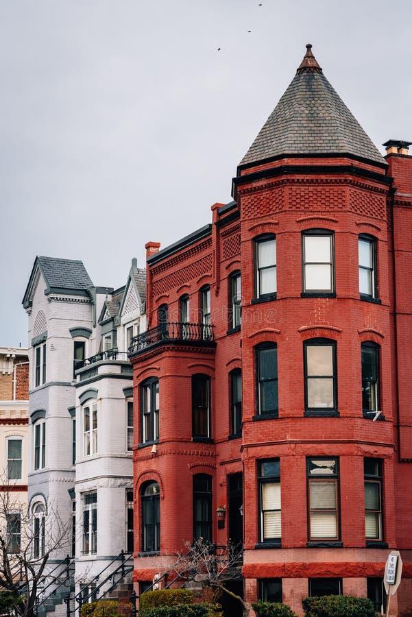 Row houses in Capitol Hill, Washington, DC stock photos