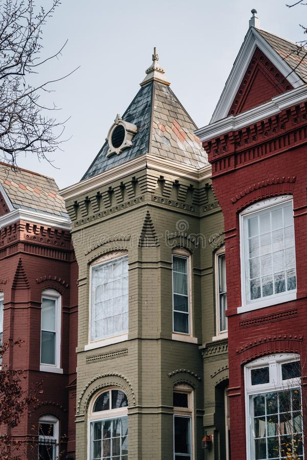 Row houses in Capitol Hill, Washington, DC stock photography