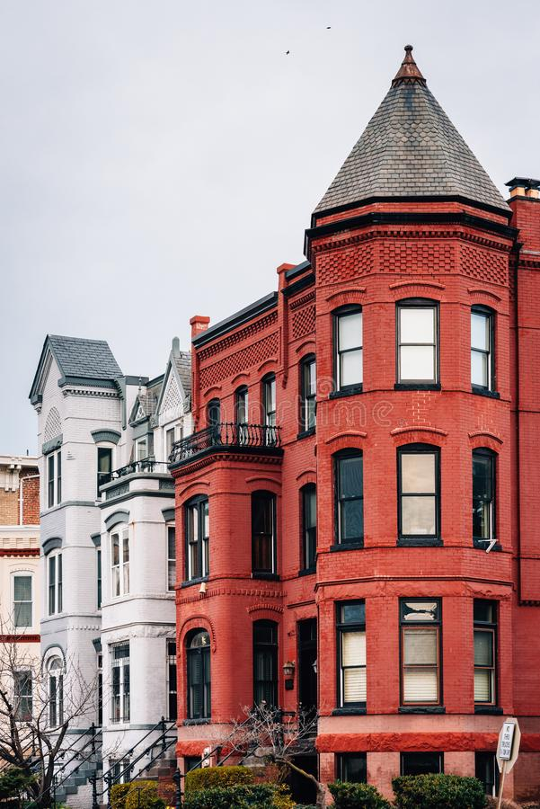 Row houses in Capitol Hill, Washington, DC royalty free stock image