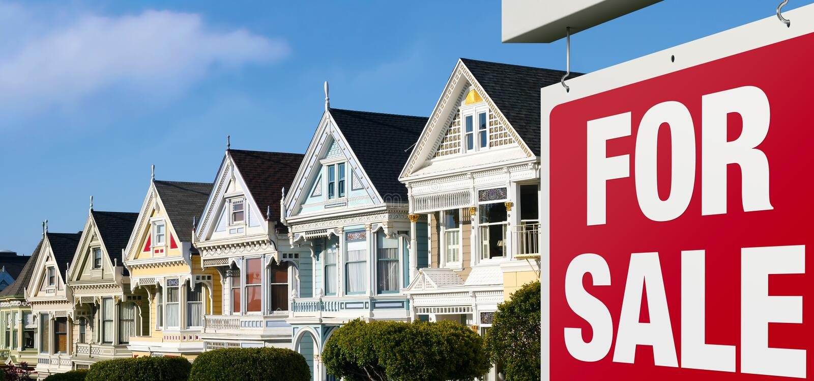 Row houses for sale in san francisco stock image image for Row houses for sale