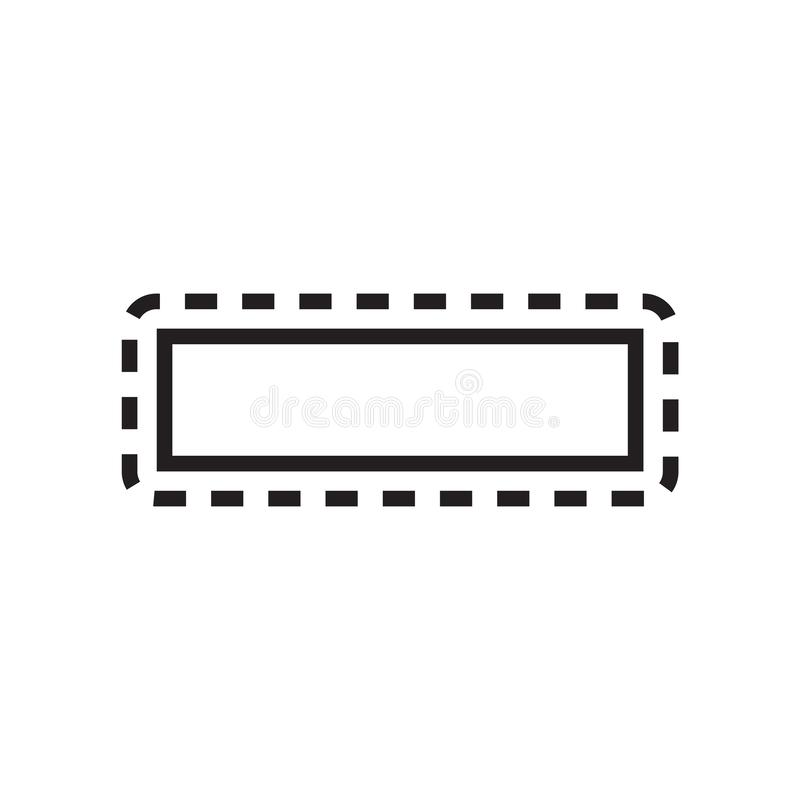 Row icon vector sign and symbol isolated on white background, Row logo concept stock illustration