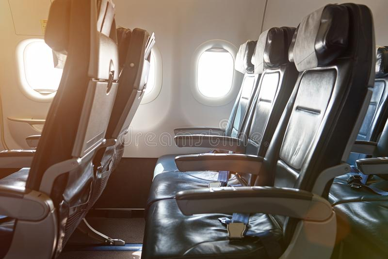 Download Row Of Seats In Airplane Stock Image. Image Of Flight   111157549