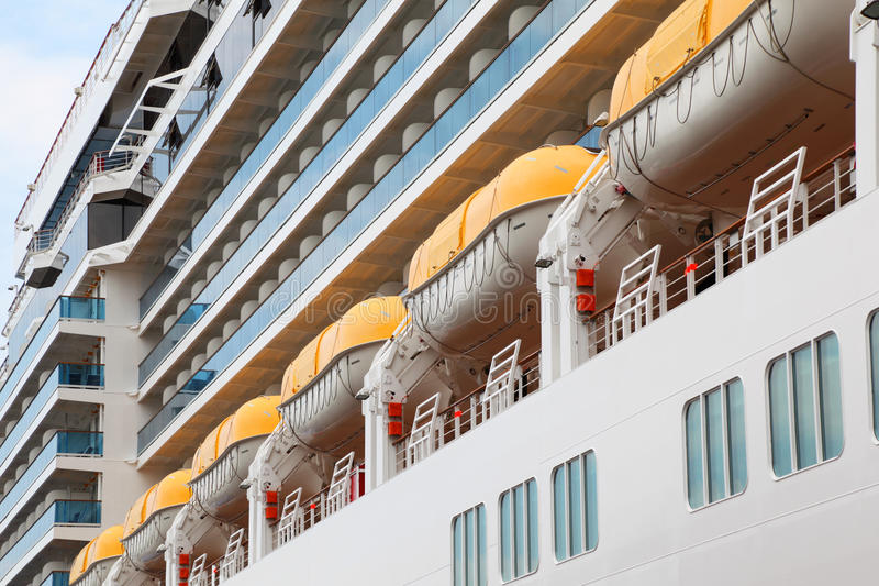 Download Row Of Lifeboats Installed On Liner Board Stock Photo - Image: 26337608