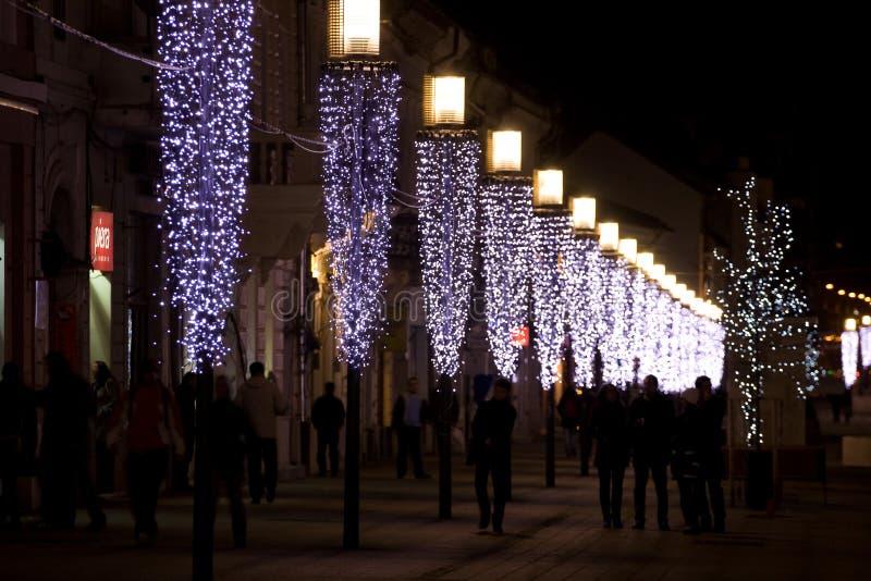 Row of light posts