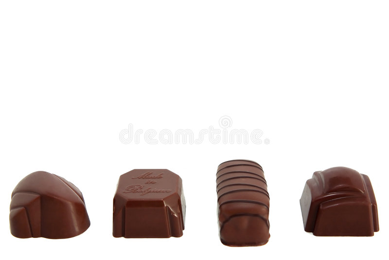 Row of Luxury Chocolates 1 stock photography