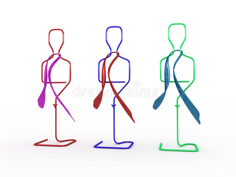 Row of mannequins vector illustration