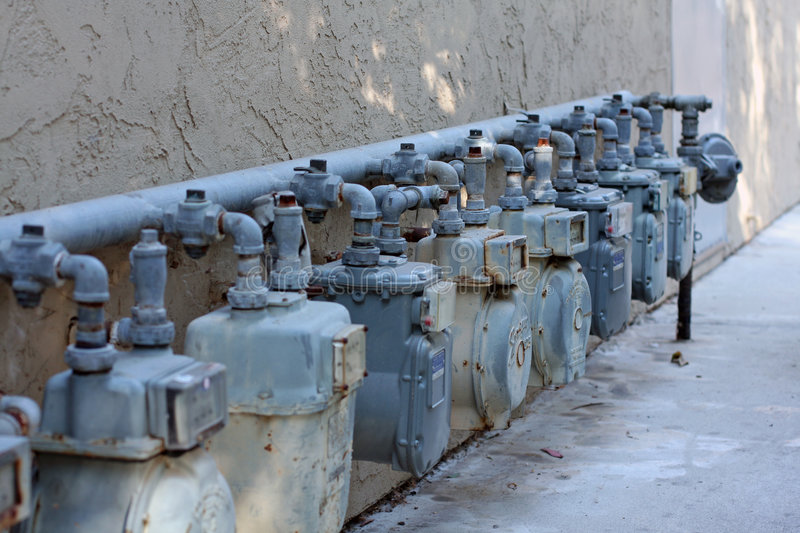 Download Row of natural gas meters stock photo. Image of clean - 6857036