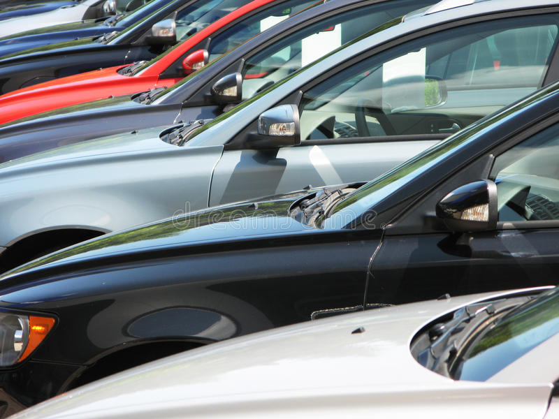 Download Row of new cars stock photo. Image of vehicle, parking - 10977088