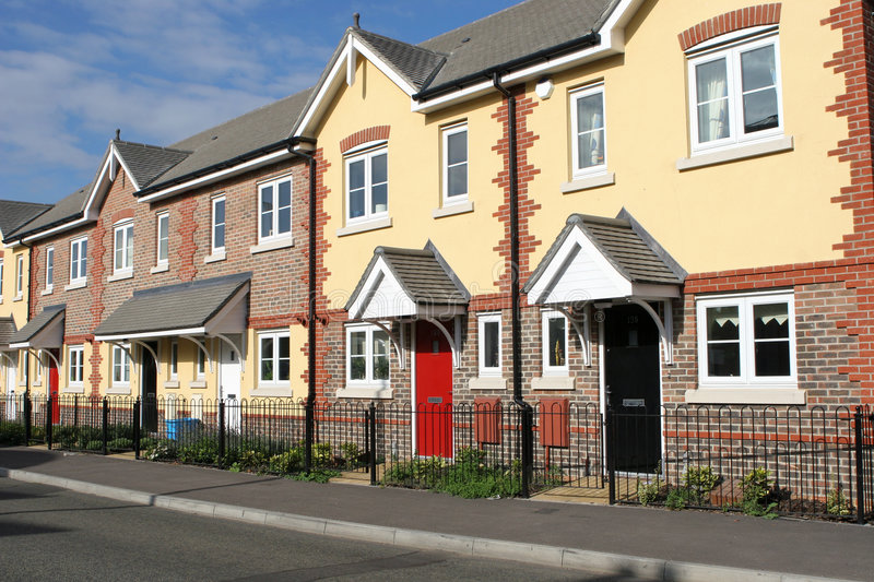 Row of New Houses or Homes royalty free stock image