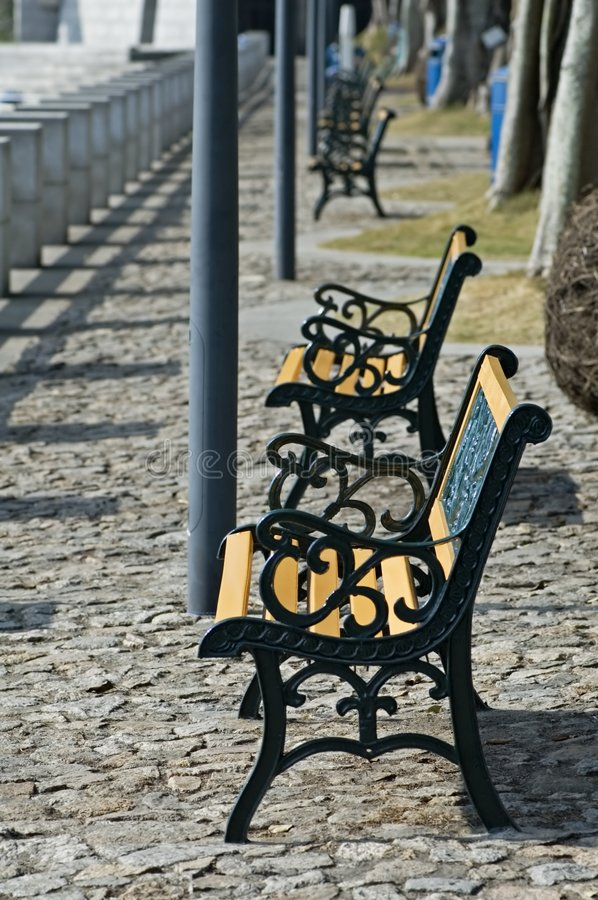 Free Row Of Benches Stock Image - 5108131