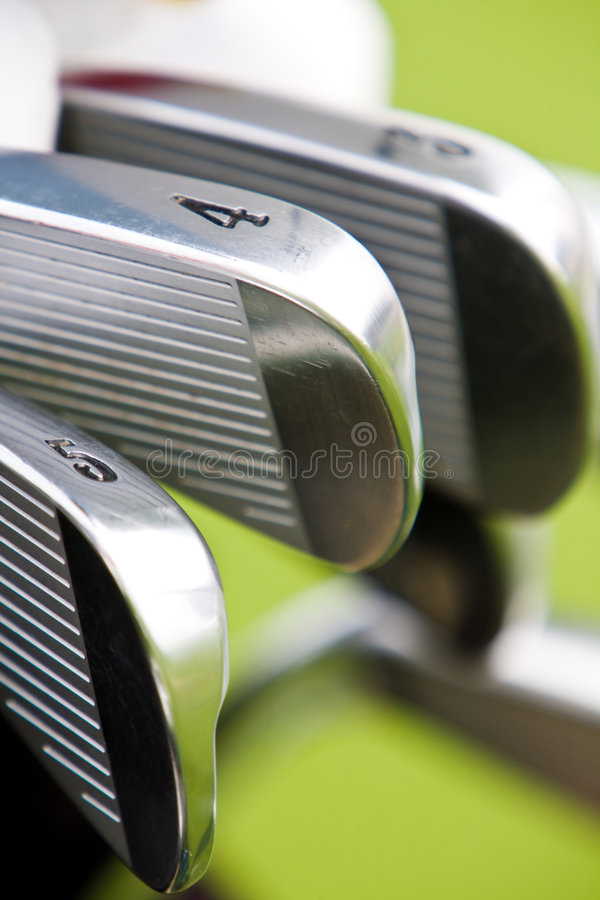 Free Row Of Golf Shaft Royalty Free Stock Photos - 7254478
