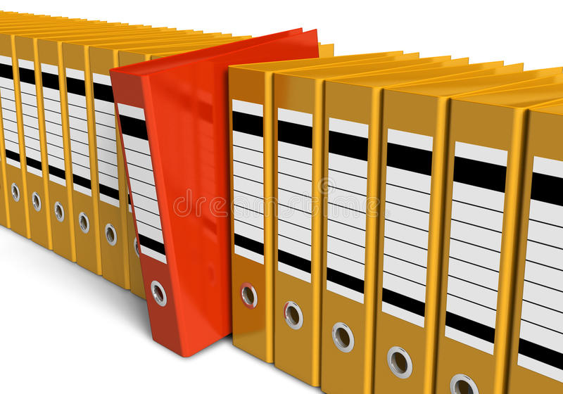 Download Row Of Office Folders Royalty Free Stock Photos - Image: 19482128