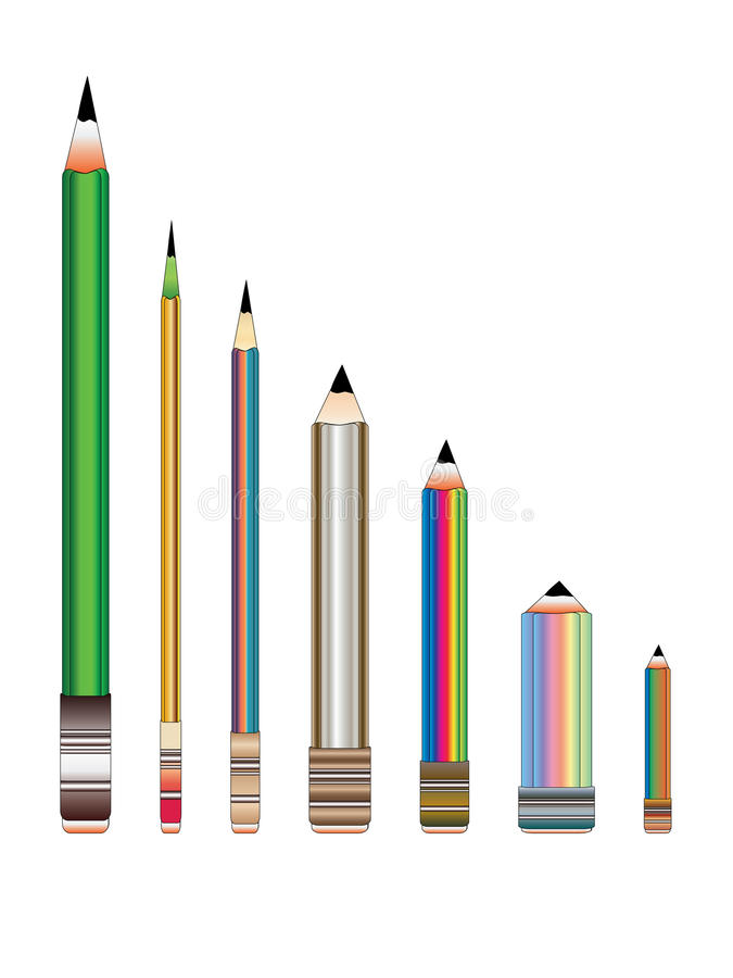 Download Row of Pencils stock vector. Image of implement, still - 15913236